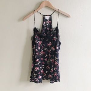 Camo NYC Silk Floral Lace Camisole